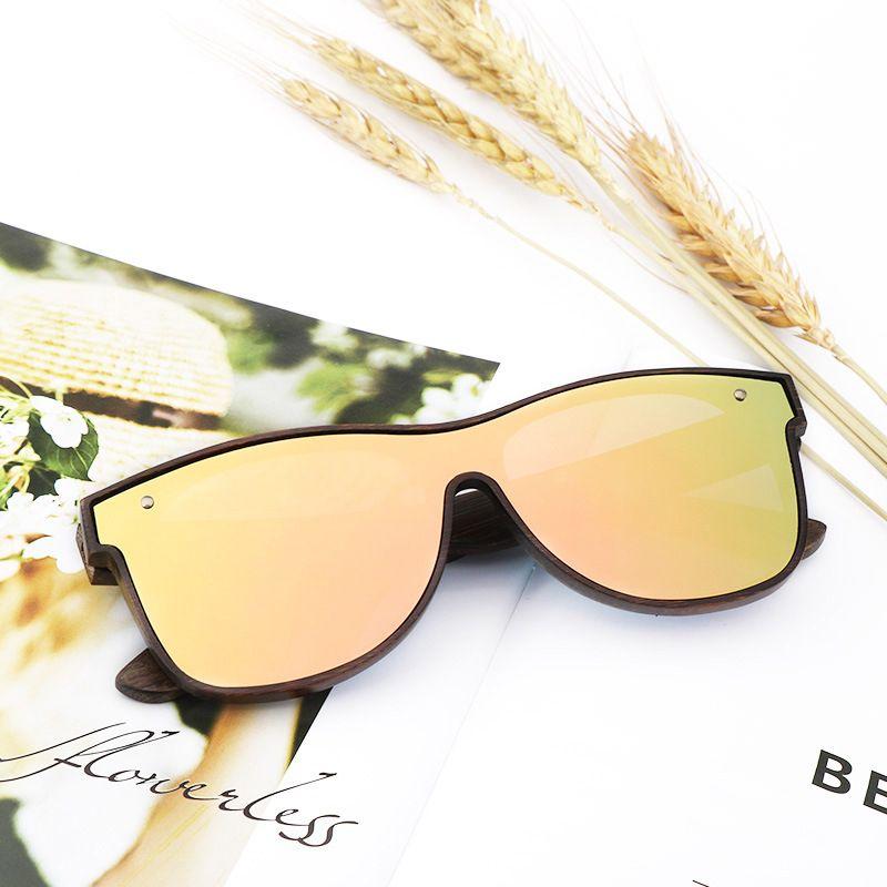 New Design Bamboo Wood Sunglasses For Men/Women,Polarized Sun Glass High Quality UV400 One Lens