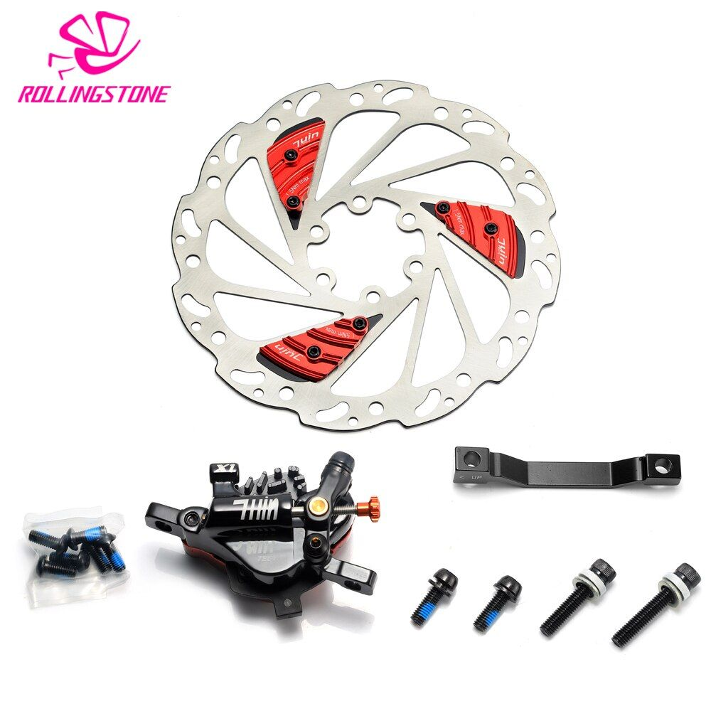 Juin Tech X1 Hydraulic Cable Pull Disc Brake Caliper 160mm cooling fins Cyclocross Cx Road MTB Taiwan