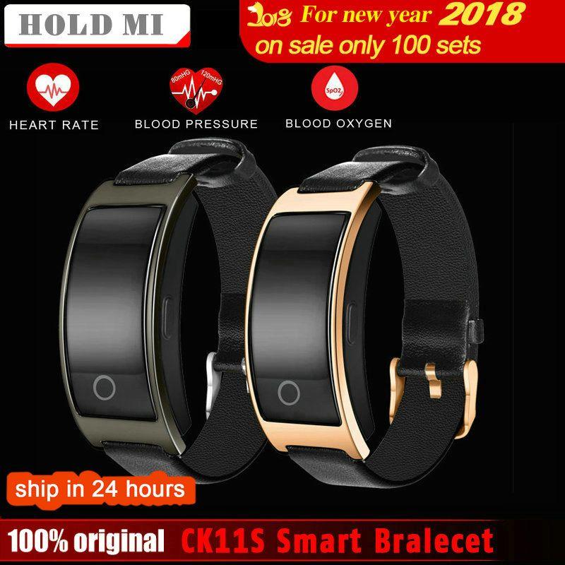 Hold Mi CK11S Smart Bluetooth Bracelet Blood Pressure Heart Rate Monitor WristWatch Fitness Bracelet Tracker Pedometer Wristband