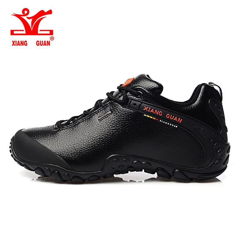 2016 xiang guan Пеший Туризм обувь поли уретан черный нескользящая обувь, Восхождение уличной обуви дышащая обувь низкая 36-45
