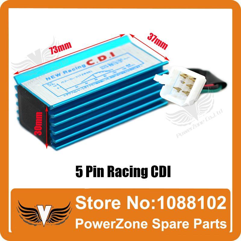 High Performance 5 Pin Racing CDI For 50cc 110cc 125cc to 160cc SSR Pit Dirt Bikes Pit Pro ATV Quads Motorcycles Free Shipping