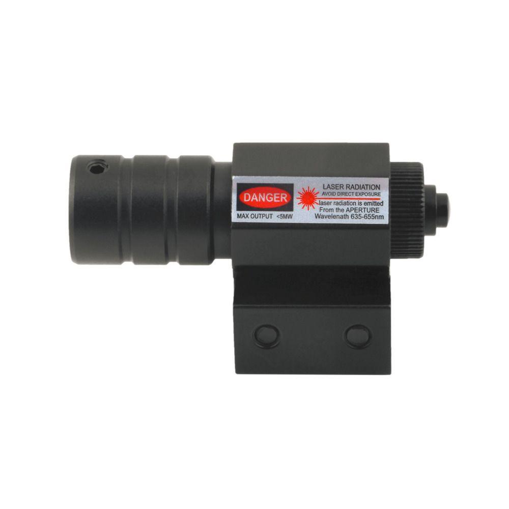 1 Unidades táctico láser rojo haz dot Sight scope punto rojo riflescope para montaje para Caza láser 50 m -100 m envío de la gota