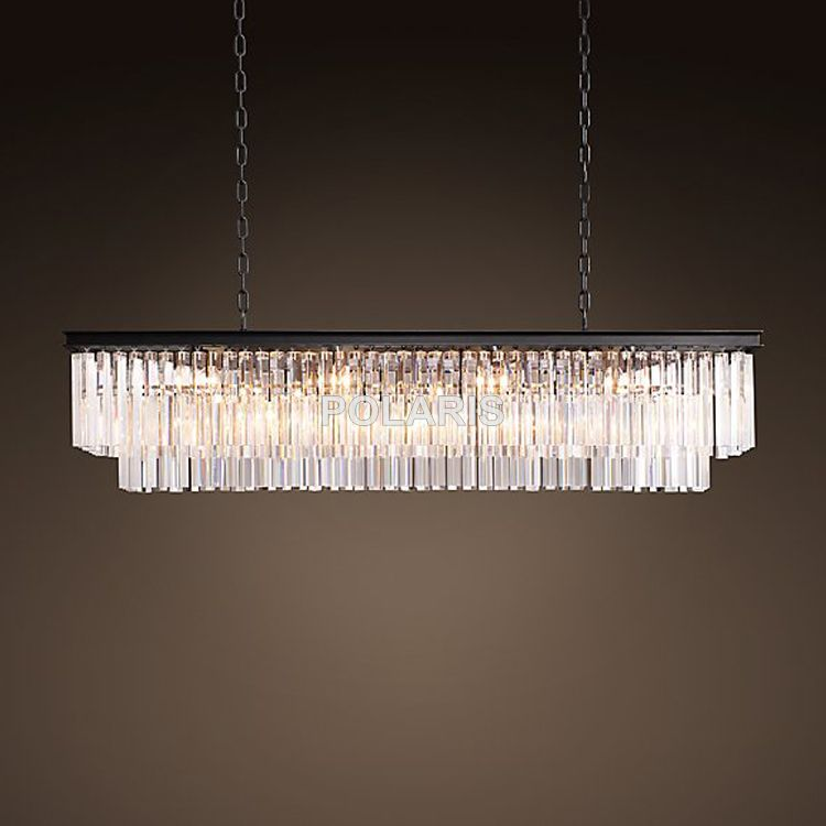 Factory Outlet Luxury Country Vintage RH Chandelier Crystal Pendant Hanging Light Chandeliers Lamp for Home Hotel Decoration