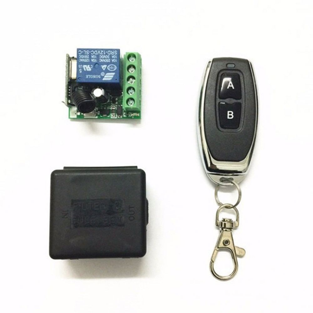 KR2201-4 DC 12V 1CH Relay Receiver Module RF Transmitter 433Mhz Wireless Remote Control Switch