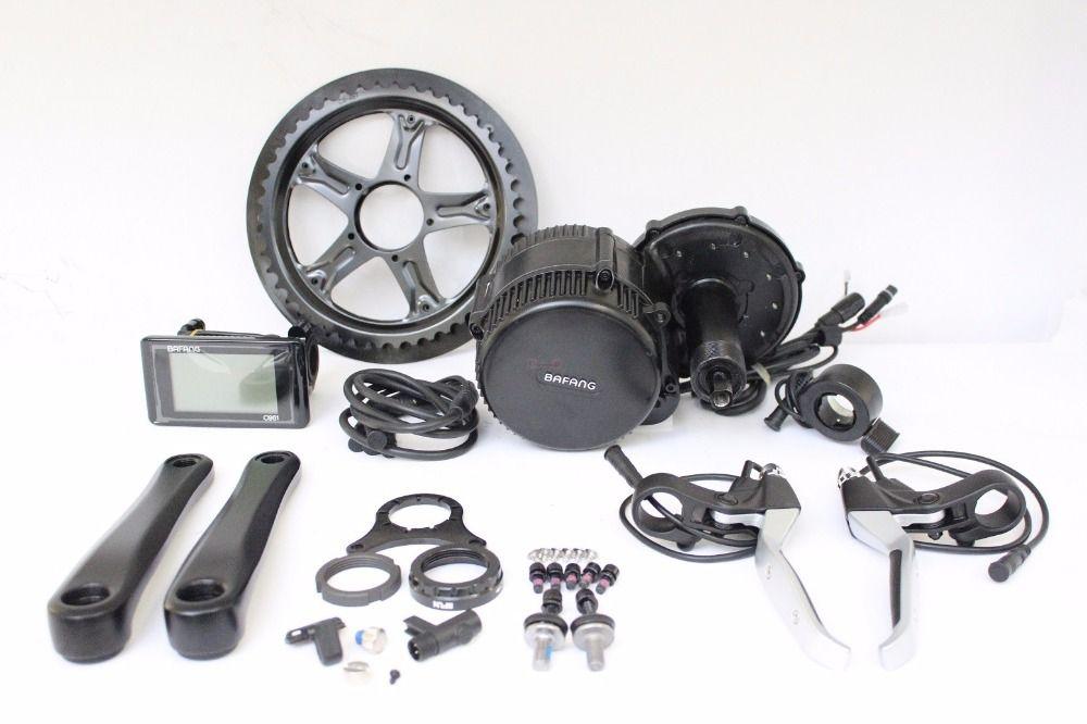 EU Kostenloser Steuer Bafang BBS02 48 v 500 watt Ebike Mitte Drive Motor Conversion Kits 46 t Elektrische Fahrrad Controller BB 68mm TFT850C Display