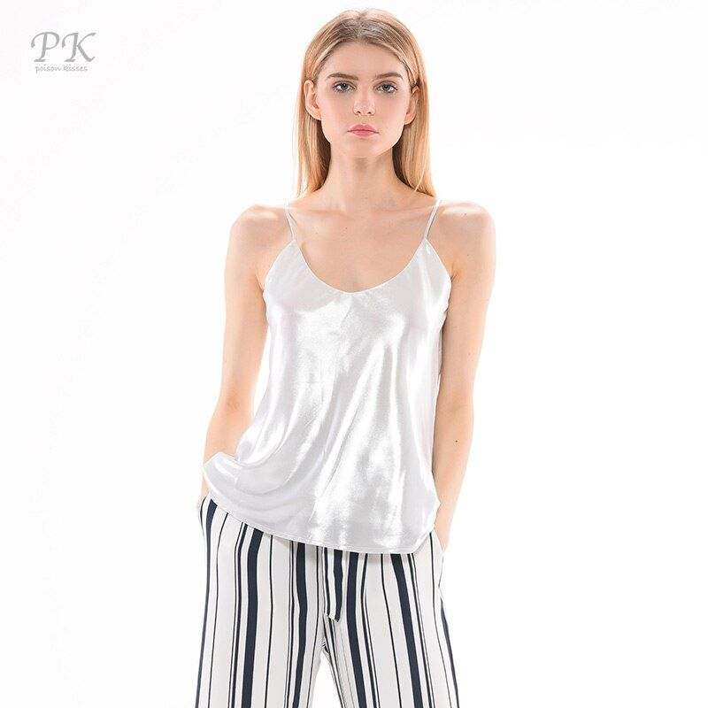 PK silver tank top women metallic sleeveless summer print camisole femme sexy tops mujeres 2017 tank women feminino metallic