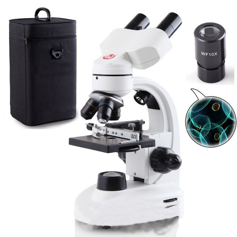 Professional optical microscope biological experiment 40X-1600X high-powered portable electronic sperm binocular microscope