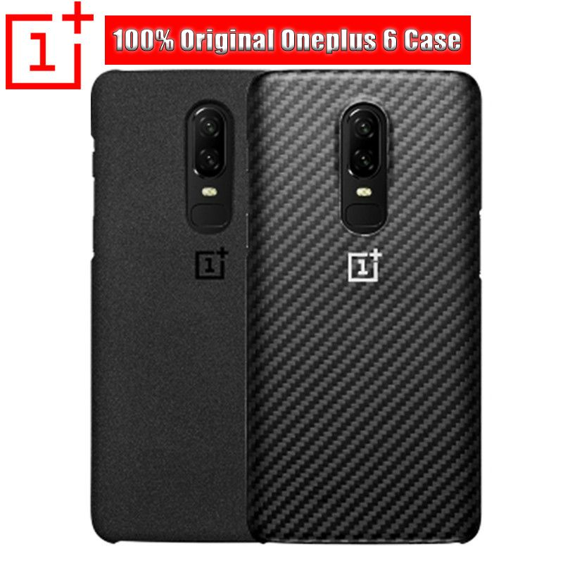 100% Original Official Oneplus 6 Case Sandstone Nylon Silicon 1+6 One Plus 6 Case Wood Back Cover Oneplus 6 Cover Case Coque