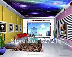 U-9437 cósmica y estrella de impresión de PVC películas para decoración del hogar 2016 nuevo techo material de construcción