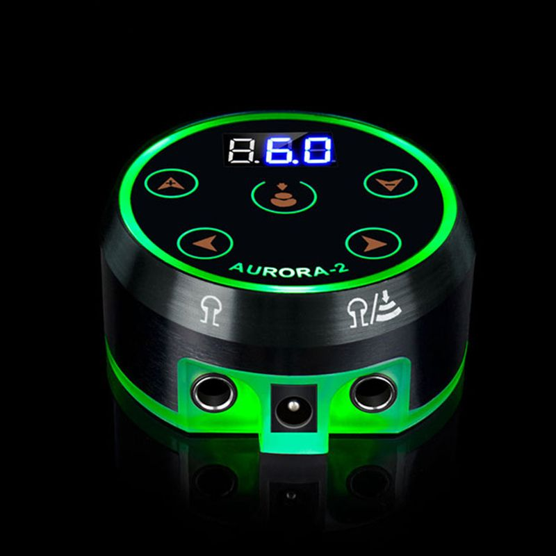 New Professional Mini Critical AURORA LCD Touch Pad Tattoo Power Supply -- TPN-032