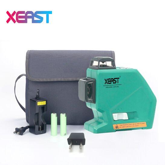 Xeast XE-803 12 líneas nivel láser autonivelante 360 horizontal y vertical Cruz Super potente láser 3D nivel láser PK MW-93T