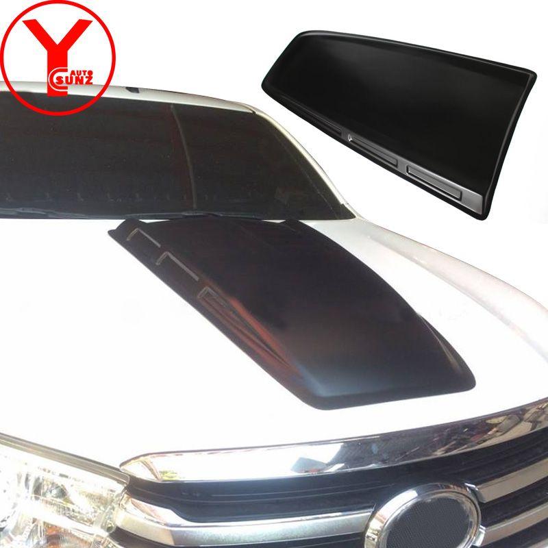 Matte schwarz Motorhaube Scoop Hauben Abdeckungen Für Toyota Fortuner AN160 HILUX SW4 Revo 2015 2016 2017 2018 auto teil zubehör YCSUNZ