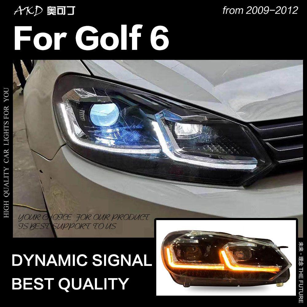 AKD Auto Styling Kopf Lampe für VW Golf 6 Scheinwerfer 2009-2012 Golf 6 LED Scheinwerfer DRL Signal Lampe hid Bi Xenon Auto Zubehör