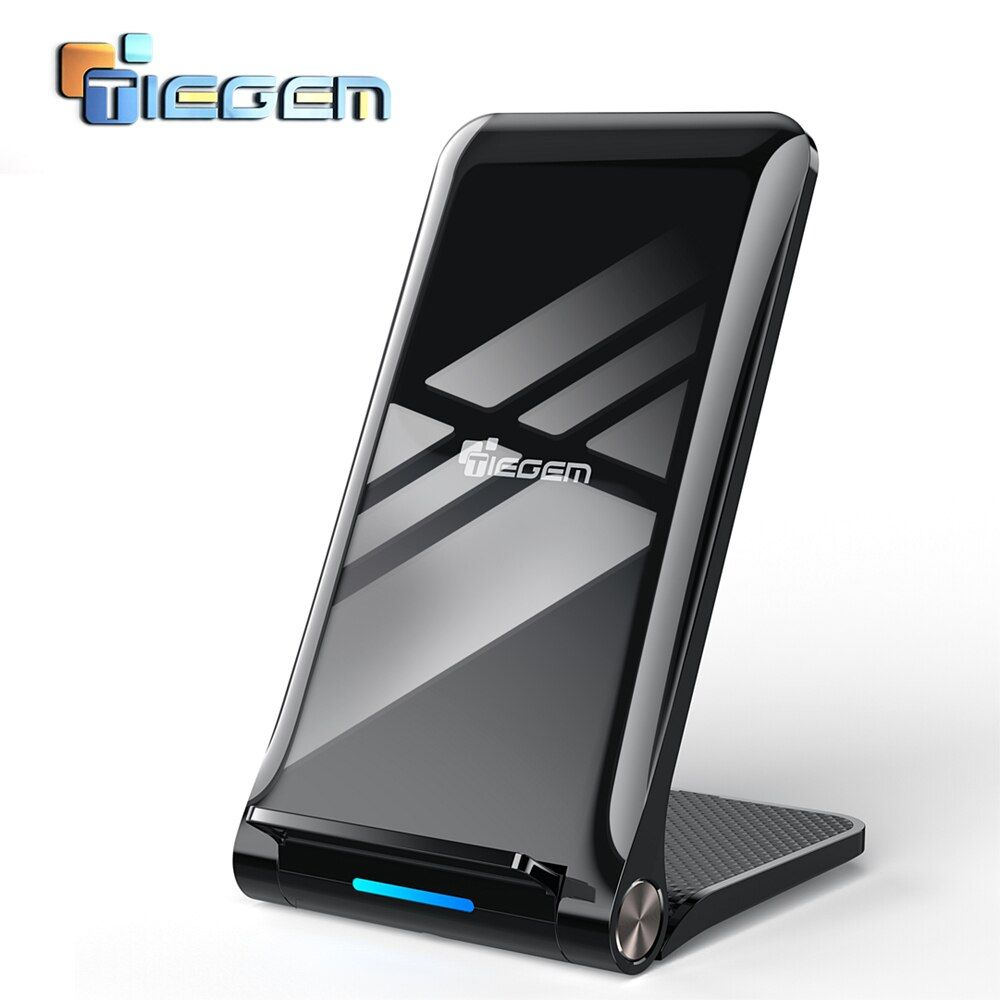 TIEGEM 10W Qi Wireless Charger for Samsung Galaxy S8 S9 S7 USB Wireless Charger for iPhone 8 X 8 Plus Wireless Fast Charging Pad