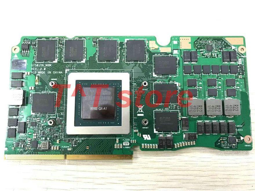 original GTX980M GTX 980M for G750J G750JY GPU VGA graphics video card board 8G GDDR5 G750JYA_MXM test good free shipping