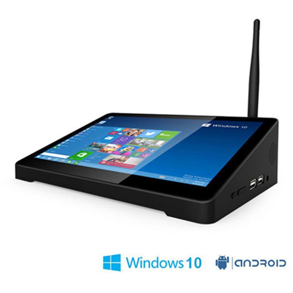 D'origine PIPO X9S 2 GB + 32 GO Quad Core mini pc boîtier de smart tv Double OS Windows 10 & Android 4.4 Intel z8350 8.9