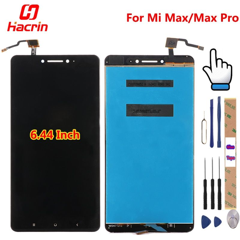 For Xiaomi Mi Max LCD Display + Touch Screen 100% New Digitizer Assembly Replacement Accessories For Xiaomi Mi Max Pro Prime