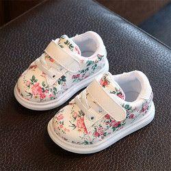 Nouveau Enfants Chaussures Pour Filles Enfants De Mode Casual Chaussures Floral Mignon Bébé Enfants Sneakers Respirant Bébé Filles Chaussures UE 21-30