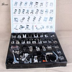 32 PCS Pcs Sewing knitting Crochet Domestic Machine Blind Stitch Darning Presser Foot Feet Kit Set For Brother Singer Janom