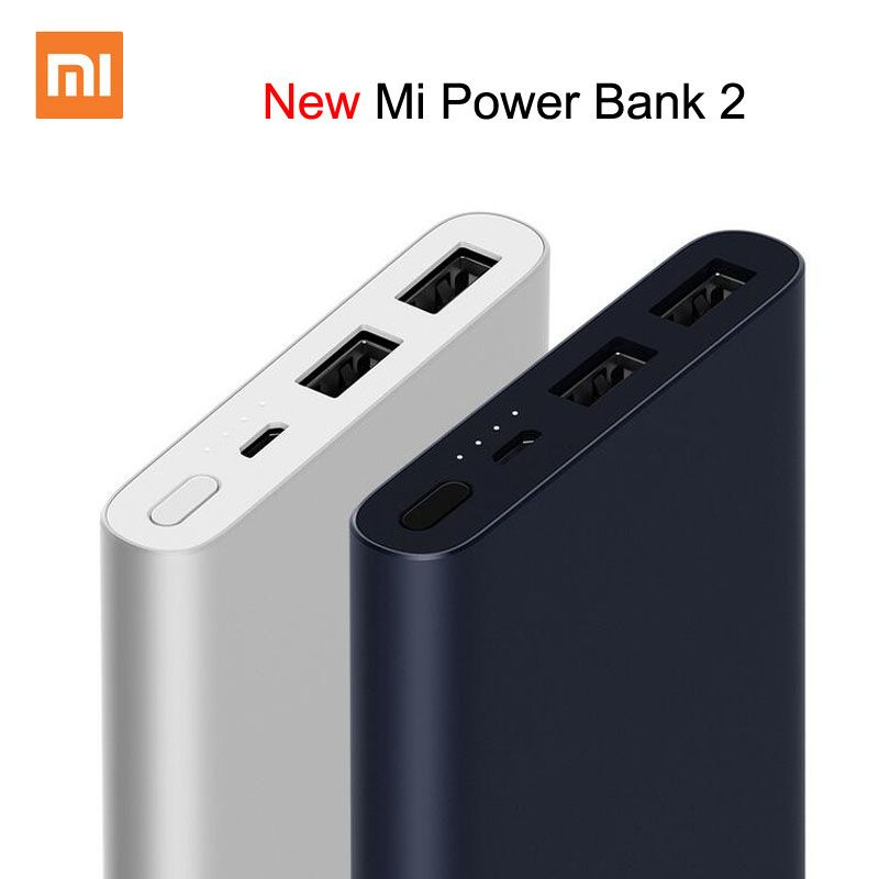 Xiaomi Mi Power Bank 2 10000mAh Upgrade with Dual USB Output Powerbanks Supports Two Way Quick Charge for XiaoMi