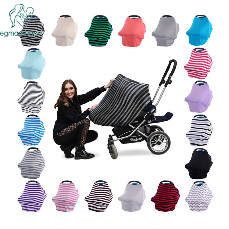 New Baby Car <font><b>Seat</b></font> Cover Toddler Canpony Nursing Cover Multi-Use Stretehy Infinity Scarf Breastfeeding Shipping Car Chair Cover