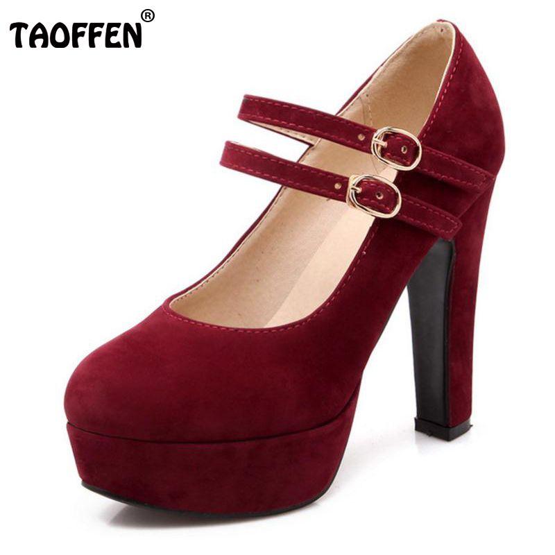 TAOFFEN women stiletto high heel shoes sexy lady platform spring fashion heeled pumps heels shoes plus big size 31-47 P16737