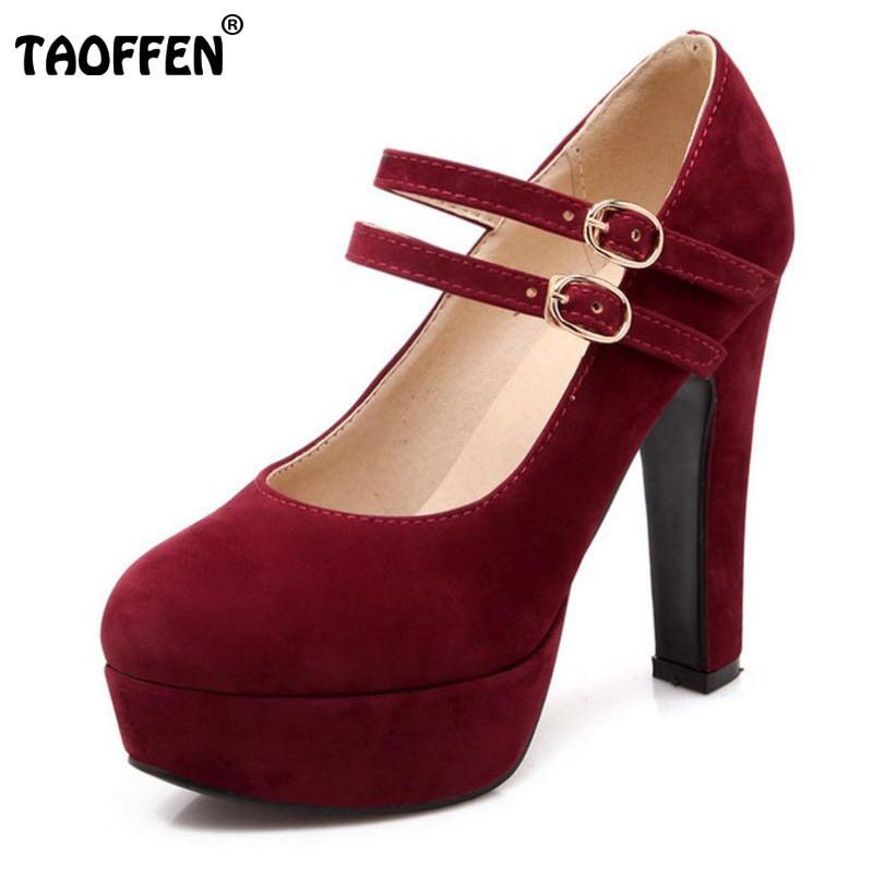 TAOFFEN women stiletto high heel shoes sexy lady platform spring fashion heeled pumps heels shoes plus big size 31-47 P16737