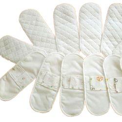 2 Pcs 210mm Femmes Hygiène féminine Réutilisable Lavable Panty Liner Coton Tissu Menstruel Sanitaire À Langer Serviette Pad Couches Pour Adultes