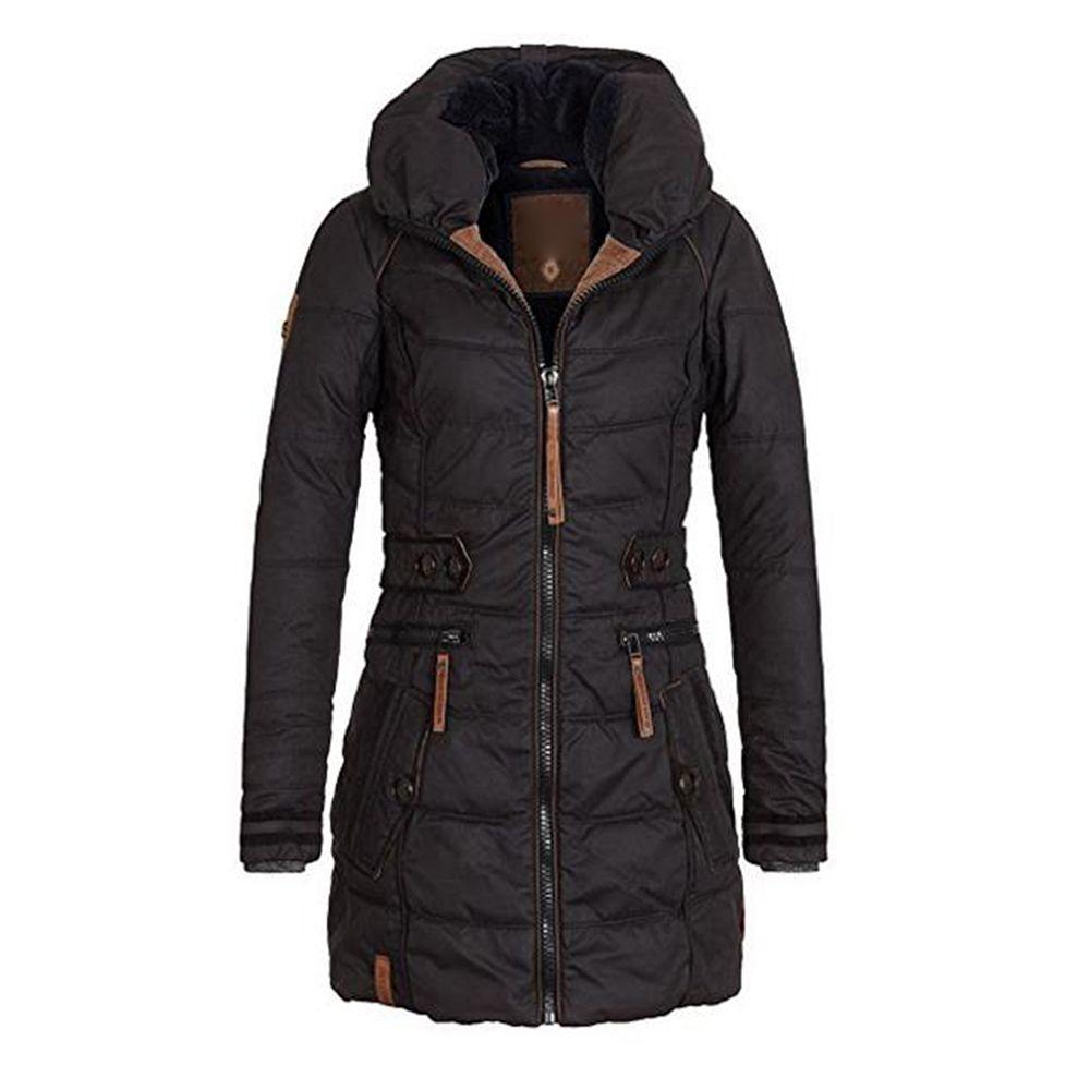 Femmes à capuche manteaux veste haut basique femmes grande taille Parkas épais survêtement solide court femme mince coton hiver chaud manteau
