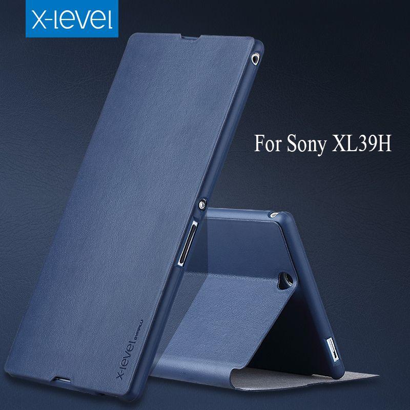 XLevel Flip PU Étui En Cuir Pour Sony Xperia Z Ultra XL39H Marque Téléphone Couverture de Cas de Stand Cas de Téléphone D'affaires