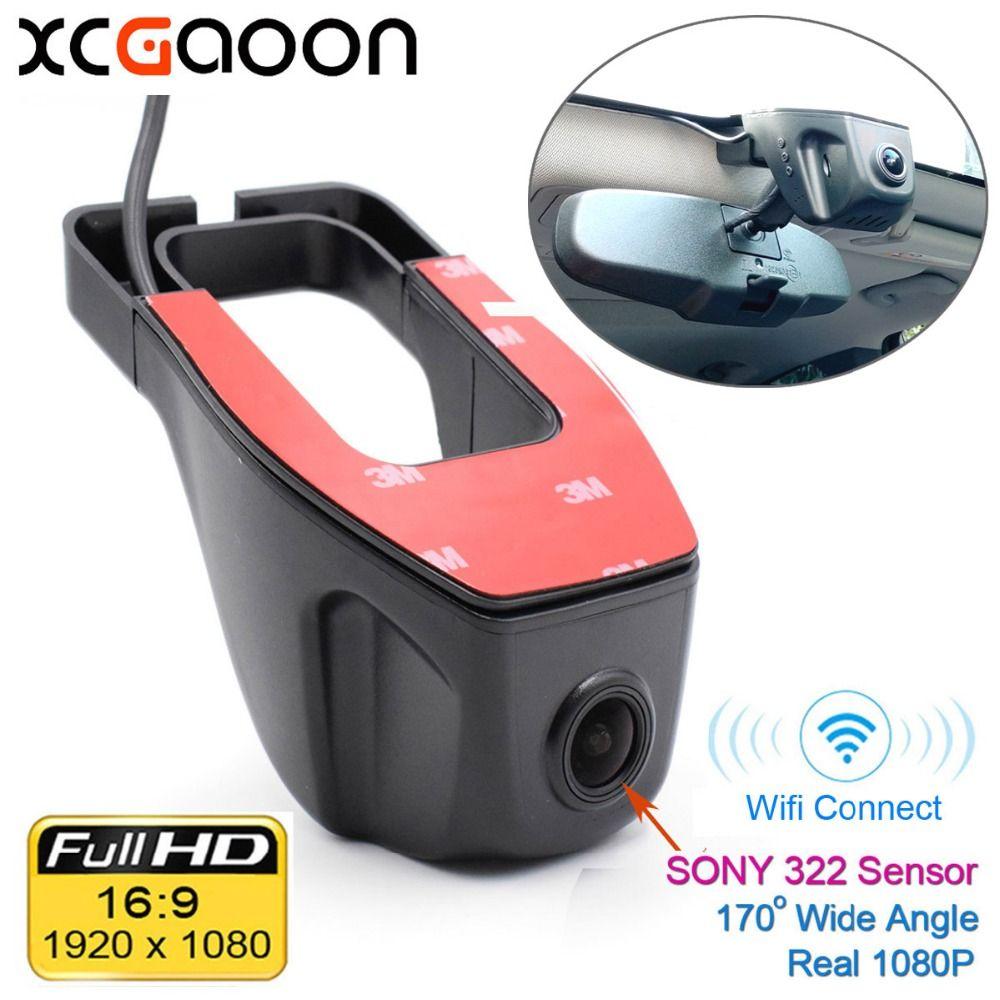 XCGaoon Wifi 170 degrés voiture DVR enregistreur vidéo caméscope caméra tableau de bord 1080 P Version nocturne Novatek 96655 utiliser SONY 322 capteur