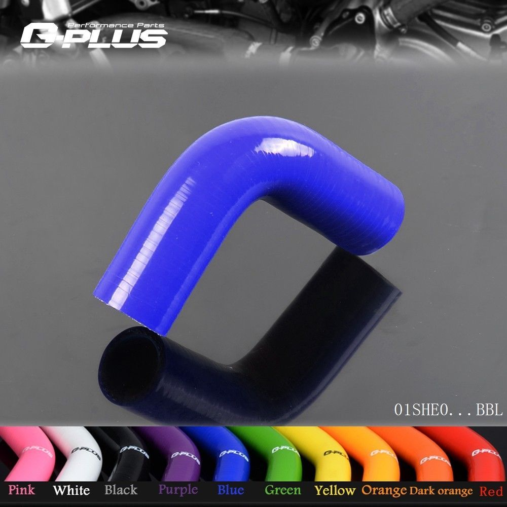 Free Shipping  Gplus 22mm 7/8 90 Degree Hose Turbo Silicone Elbows Coupler Pipe Hose