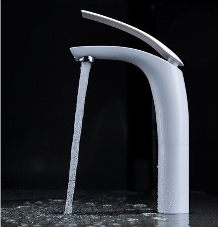 New Hot sell Brass Baking finish bathroom basin Faucet / Fashion 6 Colors Hot and Cold Water Mixer Tap / Black&White&Red
