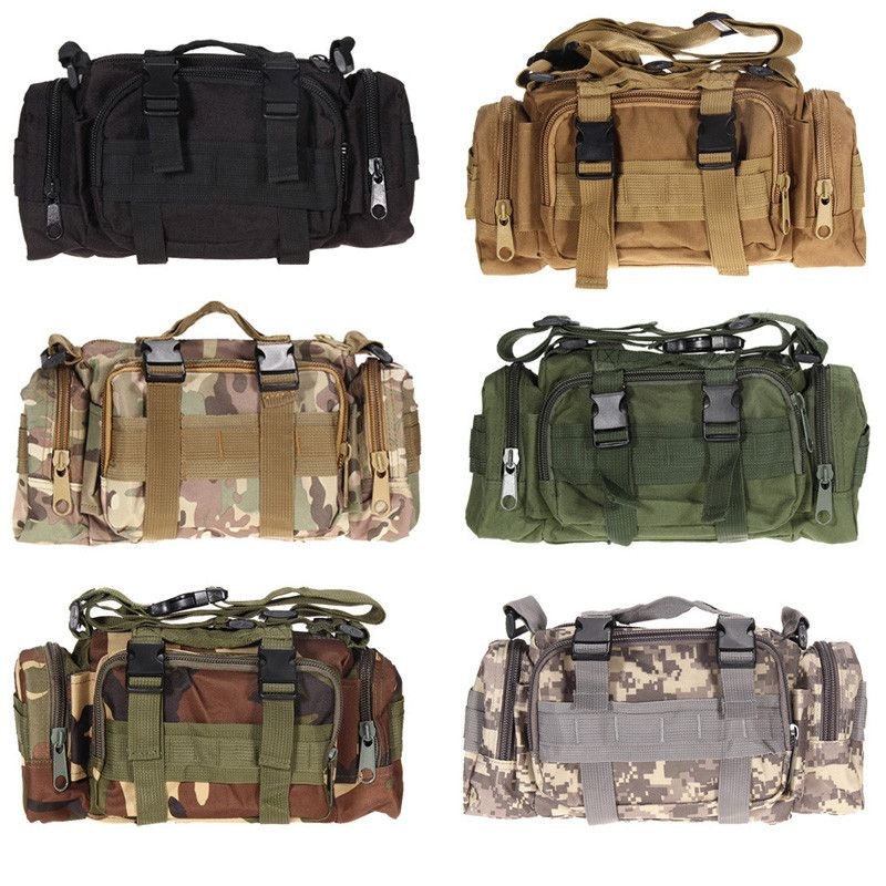 Outdoor Military Tactical Waist Bag Waterproof Nylon Camping Hiking Backpack Pouch Hand Bag military bolsa Style mochila