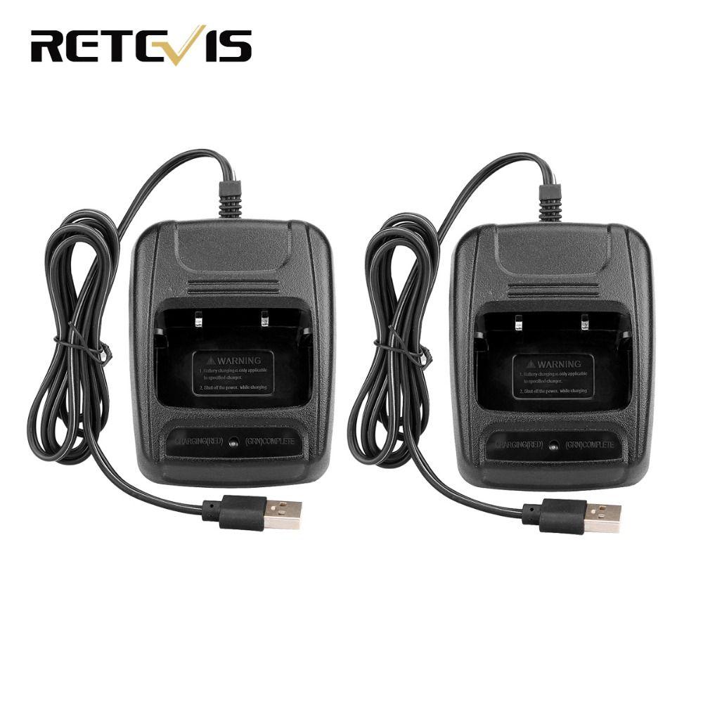 2 pièces USB Chargeur De Batterie Li-ion pour Retevis H777 Baofeng 888 S BF-888S Radio Bidirectionnelle Talkie-walkie J9104E