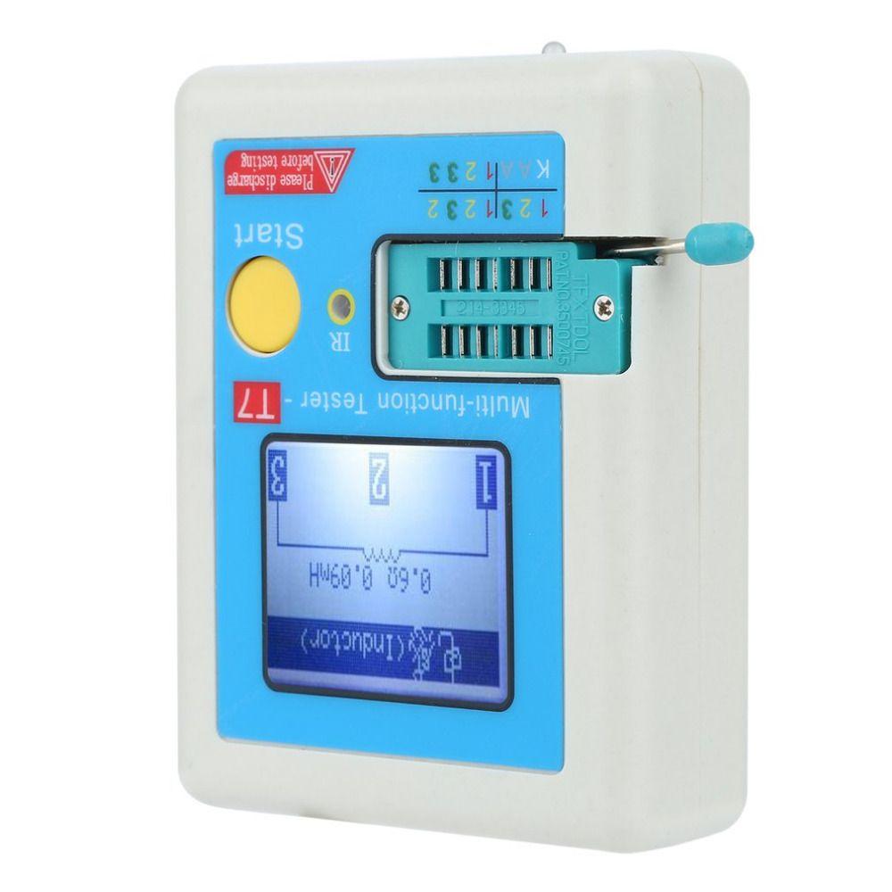 Quality Transistor Tester TFT Diode Triode Capacitance ESR Meter LCR MOSFET IR Universal Tester Multimeter LCR-T7