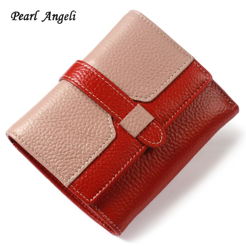 Perle Angeli Femmes de Bourse En Cuir Véritable Petite Carte de Crédit Porte-Monnaie Féminin Pièce Poche Embrayage Bourse Portefeuille Femme