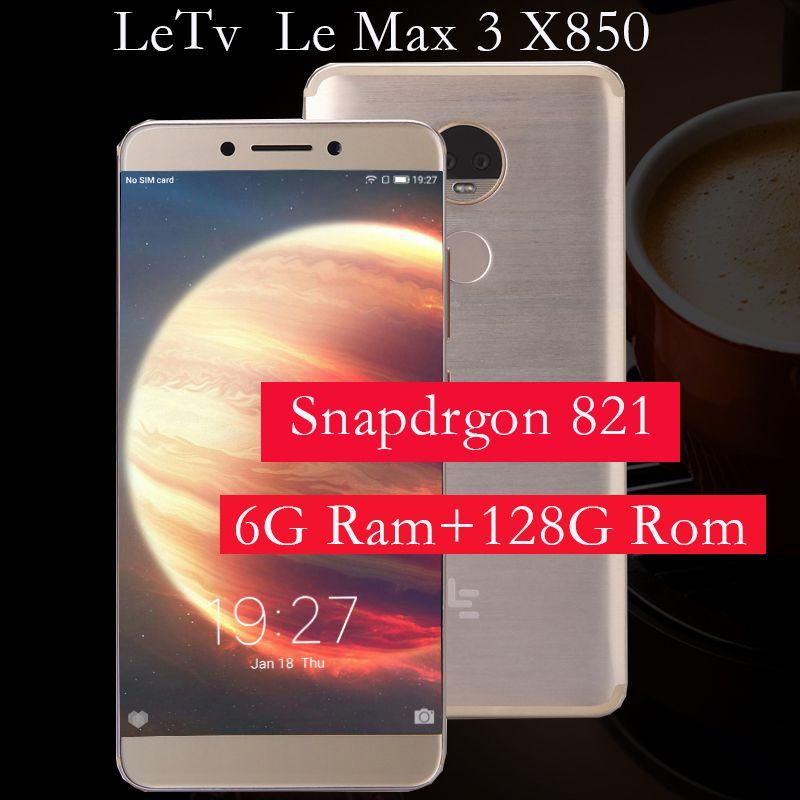 Ursprüngliche Letv LeEco RAM 6G ROM 64G le Max3 X850 FDD 4G Handy 5,7