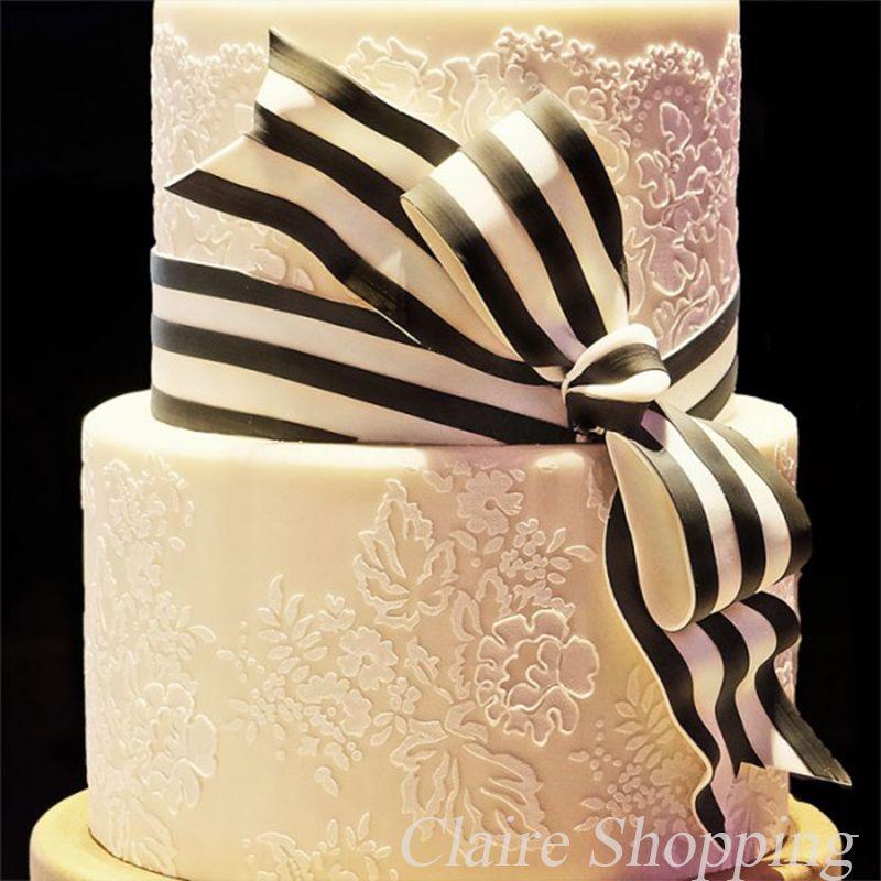 Yueyue Sugarcraft gâteau pochoir fleur et feuille gâteau décoration outils de mariage gâteau décoration fondant gâteau moule