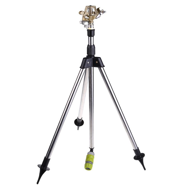 Garden Watering System Stainless Steel Tripod Impact Sprinkler Garden Kits for Farmland <font><b>Plants</b></font> Flower Irrigation High Quality