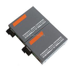 1 par htb-gs-03 a/b Gigabit Fibra óptica Media Converter 1000 Mbps solo modo Fibra Puerto SC 20 km fuente de alimentación externa