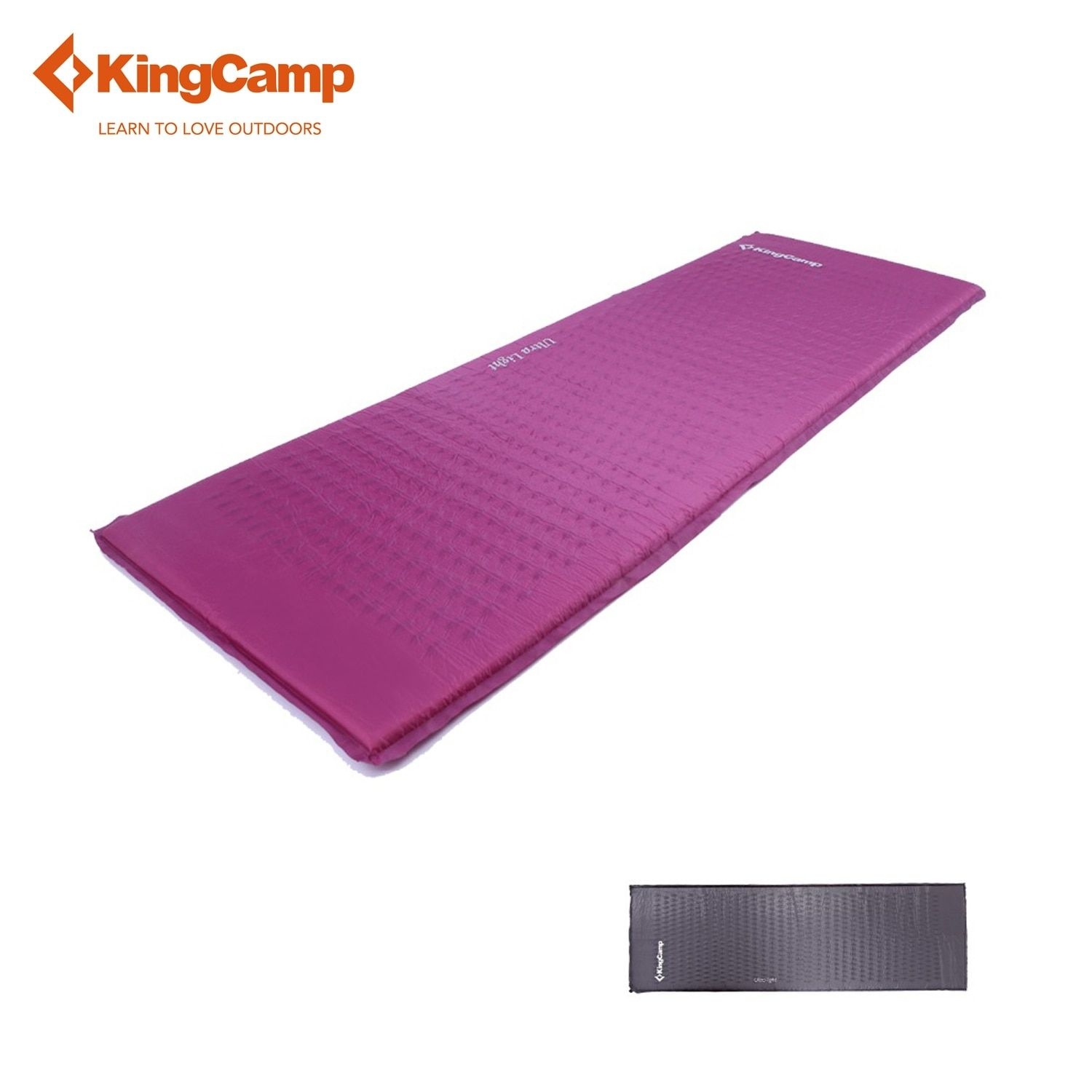 KingCamp Ultralight eco-friendly Self-Inflating Camp Pad for Camping Backpacking Hiking