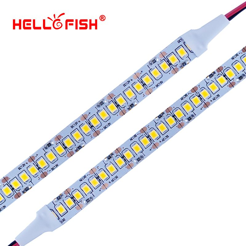 2835 bande smd LED 1200 puce LED 12 V LED Flexible PCB lumière LED rétro-éclairage bande LED bande 240 LED/m blanc/blanc chaud