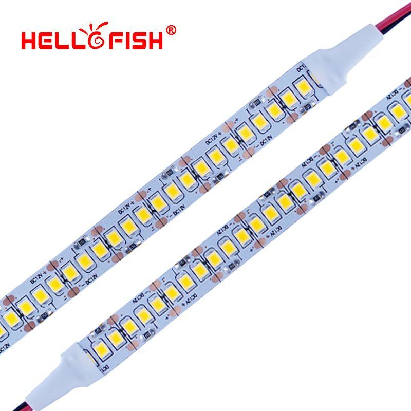 Hello Fish 2835 LED strip SMD 1200 LED chip 12V LED Flexible PCB light LED backlight Strip LED tape 240 LED/m <font><b>White</b></font>/Warm <font><b>White</b></font>