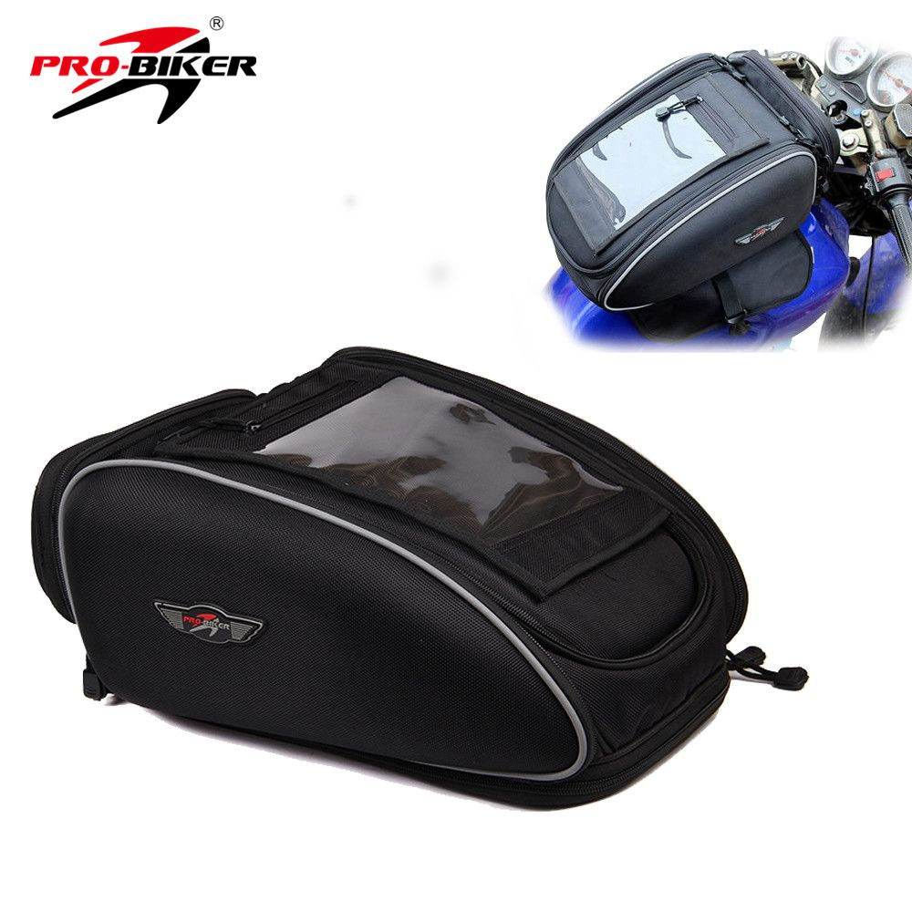 PRO-BIKER Motorcycle Bag Mochila Maletas Motorbike Black Bolso Motocicleta Magnetic Oil Fuel Tank Bags Motos Waterproof Luggage