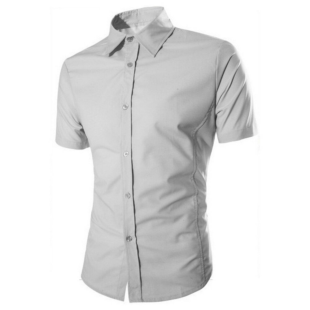 New fashion men shirt kurzarm männer shirts sommer shirts grau XL