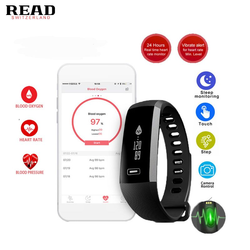 Original R5 PRO Fitness Clock Heart Rate Blood Pressure Sport Smart Watch Intelligent Fitness Bracelet For iOS Android PK Tezer