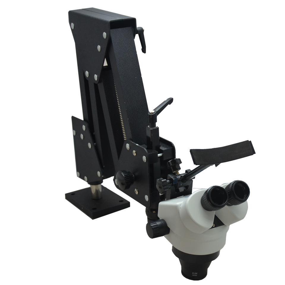 7X-45X Stereo Microscope with Hard Aluminum Stand Jewelry Microscope Dental Microscope for Jewelry Tools