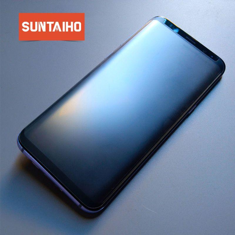 Suntaiho Matte Hinweis 9 Gehärtetem Glas Für Samsung Galaxy S9 Fingerprint Matt Galaxy s8 Bildschirm Protector Note9 hinweis 8 glas