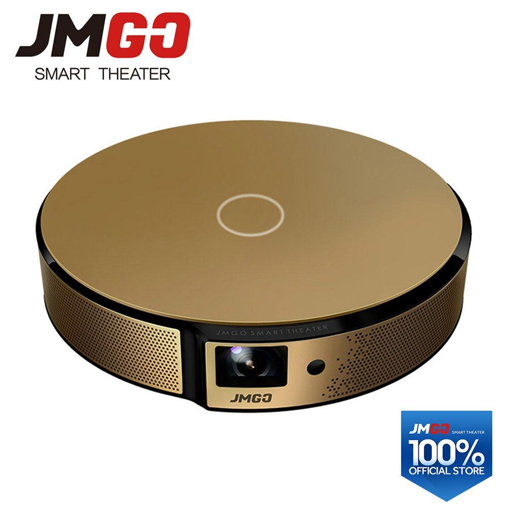JMGO E8, HD Projector, 750 ANSI Lumens Smart Beamer, Built-in Android, WIFI, Bluetooth Speaker. HDMI, USB, Support 1080P LED TV